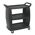 "Carlisle 3-Shelf 300 lb. Capacity Bus Cart 36-1/4""L x 18""W x 38""H"
