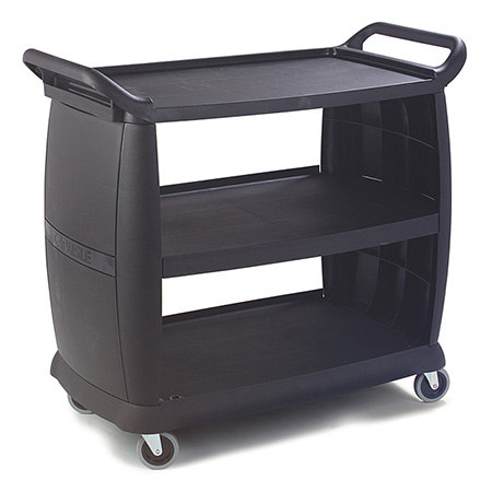 Carlisle 3-Shelf 300 lb. Capacity Bus Cart