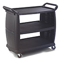 "Carlisle 3-Shelf 300 lb. Capacity Bus Cart 42""L x 23""W x 37-1/2""H"