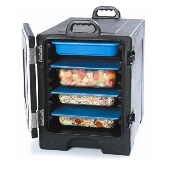 Carlisle Cateraide Black Insulated Front Loader Food Carrier