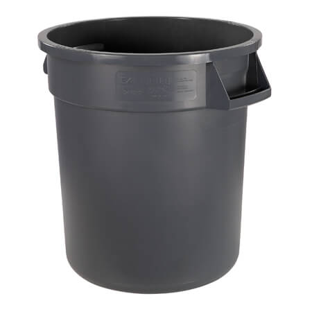Bronco 10-Gallon Gray Round Trash Container