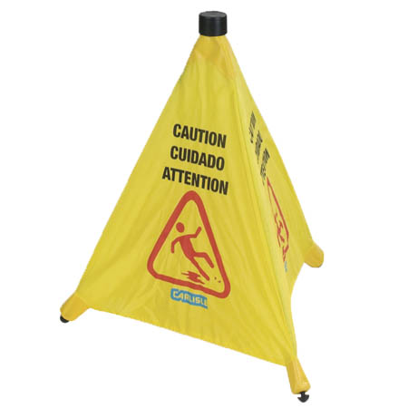 Carlisle Pop Up Wet Floor Caution Sign 20""