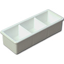 Carlisle 3-Compartment White Plastic Sugar Packet Caddy