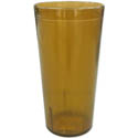 Carlisle 16 oz. Stackable Amber Poly Tumbler