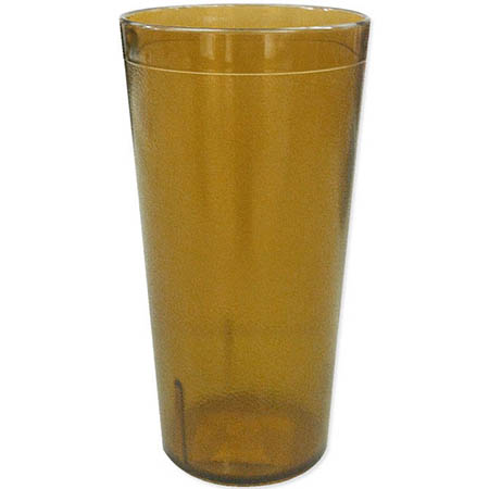 Carlisle 5 oz. Stackable Amber Poly Tumbler