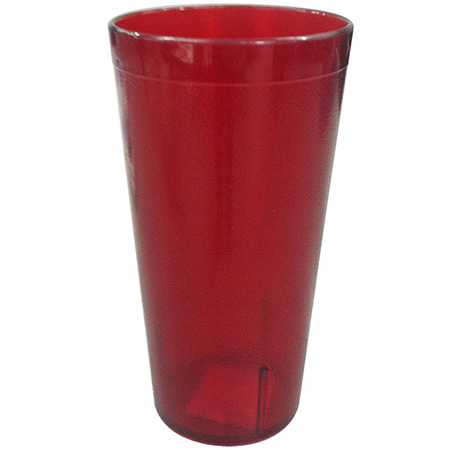 Carlisle 8 oz. Stackable Red Poly Tumbler
