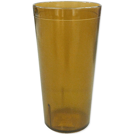 Carlisle 8 oz. Stackable Amber Poly Tumbler