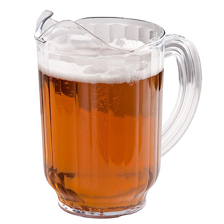Carlisle 32 oz. Clear Poly Beverage Pitcher