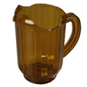 60 oz Amber Poly Beverage Pitcher