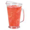 Carlisle 60 oz. Clear Crystalite Poly Beverage Pitcher