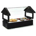 "Carlisle Six Star 45-1/4"" Black Tabletop Salad Bar with Sneeze Guard"