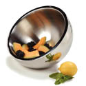 "Carlisle 1.7-Quart Stainless Steel Dual Angle Insulated Bowl 8"" Diameter"