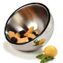 "Carlisle 3.4-Quart Stainless Steel Dual Angle Insulated Bowl 10"" Diameter"