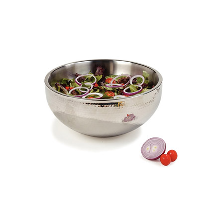 "Carlisle 5.75-Quart Stainless Steel Dual Angle Insulated Bowl 12"" Diameter"