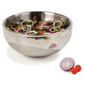 Carlisle 5.75-Quart Stainless Steel Dual Angle Insulated Bowl 12\x22 Diameter
