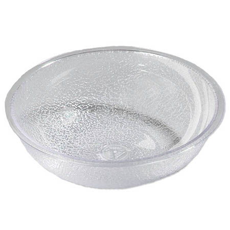 "Carlisle 18"" Clear Polycarbonate Pebbled Bowl"