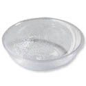 "Carlisle 8"" Clear Polycarbonate Pebbled Bowl"