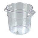 "Carlisle StorPlus 1-Quart Clear Round Food Storage Container 5""H"