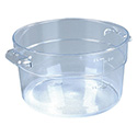 Carlisle StorPlus 2-Quart Clear Round Food Storage Container 4\x22H