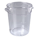 "Carlisle StorPlus 4-Quart Clear Round Food Storage Container 8""H"