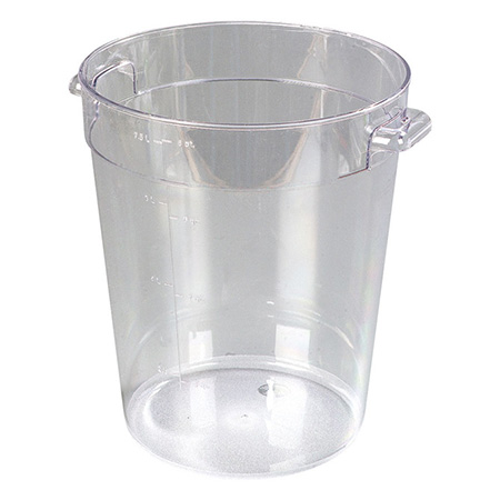 "Carlisle StorPlus 8-Quart Clear Round Food Storage Container 11""H"