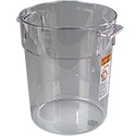 "Carlisle StorPlus 22-Quart Clear Round Food Storage Container 15""H"