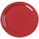 Carlisle 9\x22 Red Melamine Dinner Plate