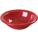 Carlisle 4.75 oz. Red Melamine Rimmed Fruit Bowl