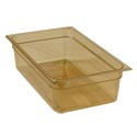 Carlisle Full Size High Heat Amber Food Pan 12-3/4\x22 x 20-3/4\x22 x 6\x22 Deep