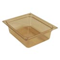 Carlisle1/2-Size High Heat Amber Food Pan 10-3/8\x22 x 12-3/4\x22 x 4\x22 Deep