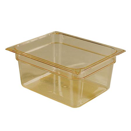 "Carlisle 1/2-Size High Heat Amber Food Pan 10-3/8"" x 12-3/4"" x 6"" Deep"