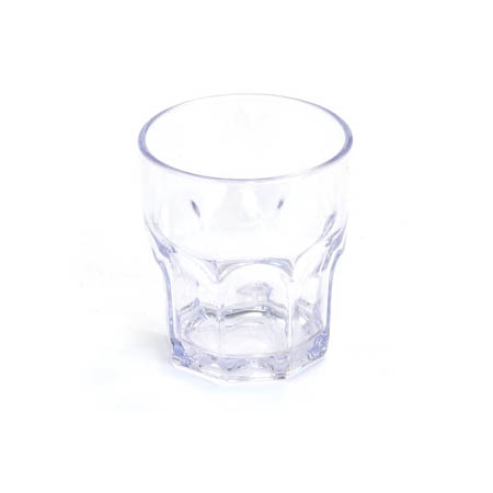 Carlisle 8 oz. Clear Plastic Louis Rocks Glass