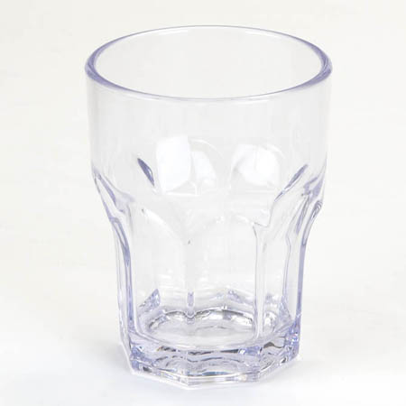 Carlisle 10 oz. Clear Plastic Louis Rocks Glass