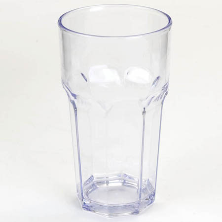 Carlisle 22 oz. Clear Plastic Louis Tumbler Glass