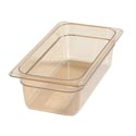 Carlisle StorPlus 1/3-Size High Heat Amber Food Pan 7\x22 x 12-3/4\x22 x 4\x22 Deep