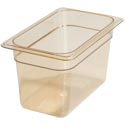 Carlisle StorPlus 1/3-Size High Heat Amber Food Pan 7\x22 x 12-3/4\x22 x 6\x22 Deep