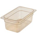 Carlisle StorPlus 1/4-Size High Heat Amber Food Pan 6-3/8\x22 x 10-1/4\x22 x 4\x22 Deep