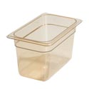 "Carlisle StorPlus 1/4-Size High Heat Amber Food Pan 6-3/8"" x 10-1/4"" x 6"" Deep"