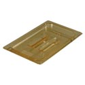 Solid Cover for Carlisle StorPlus 1/4-Size High Heat Amber Food Pan
