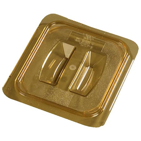 Solid Cover for Carlisle StorPlus 1/6-Size High Heat Amber Food Pan