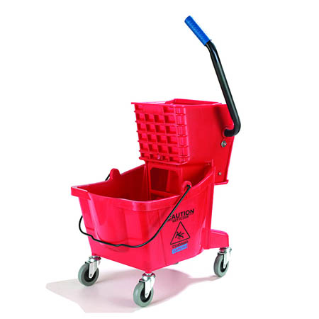 Carlisle 26-Quart Red Mop Bucket with Wringer