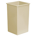 Continental 25-Gallon Swingline Beige Trash Container