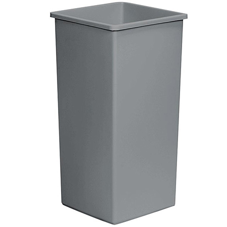 Continental 32-Gallon Swingline Gray Trash Container