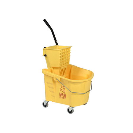Continental 35-Quart Yellow Mop Bucket with Side Press Wringer