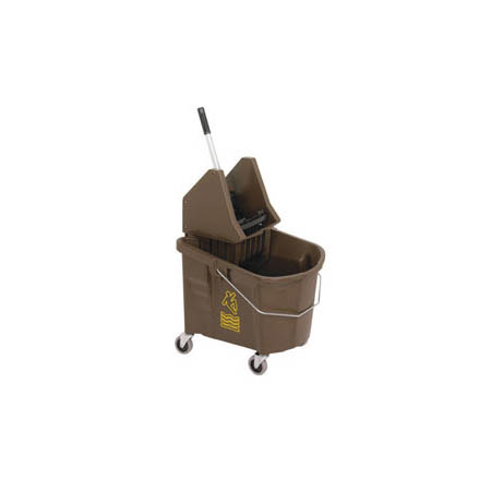 Continental 35-Quart Brown Heavy Duty Mop Bucket with Down Press Wringer