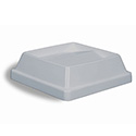 Lid for Continental 25 and 32-Gallon Swingline Gray Trash Container