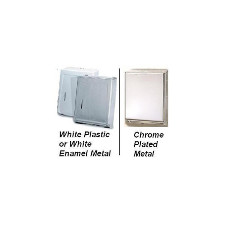 White Plastic Multi Fold Paper Towel Dispenser