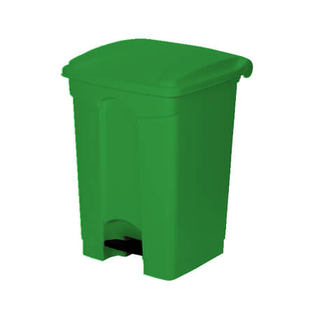 "Continental 18-Gallon Step On Green Waste Container 16""W"