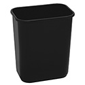 Continental 28-Quart Black Wastebasket
