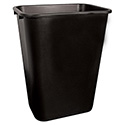 Continental 41-Quart Black Wastebasket